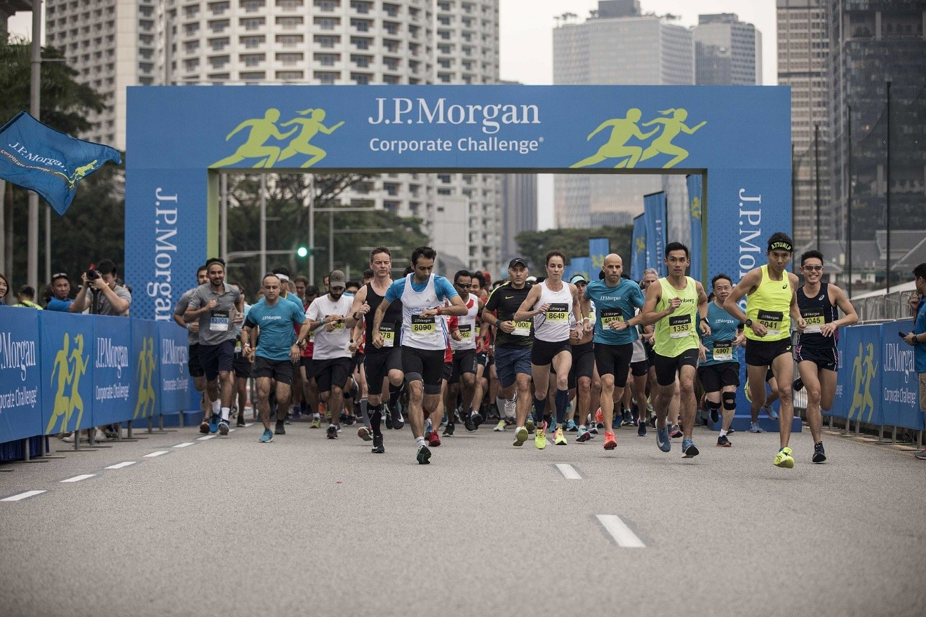 jp morgan challenge running like there's no tomorrow run people run