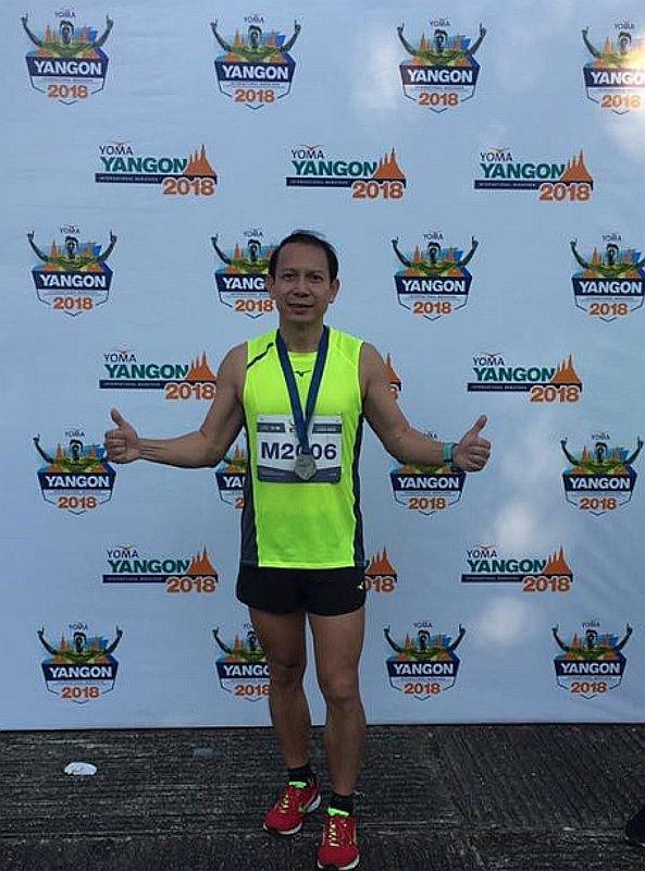 David Shum 3 Yangon Intl Marathon 2018