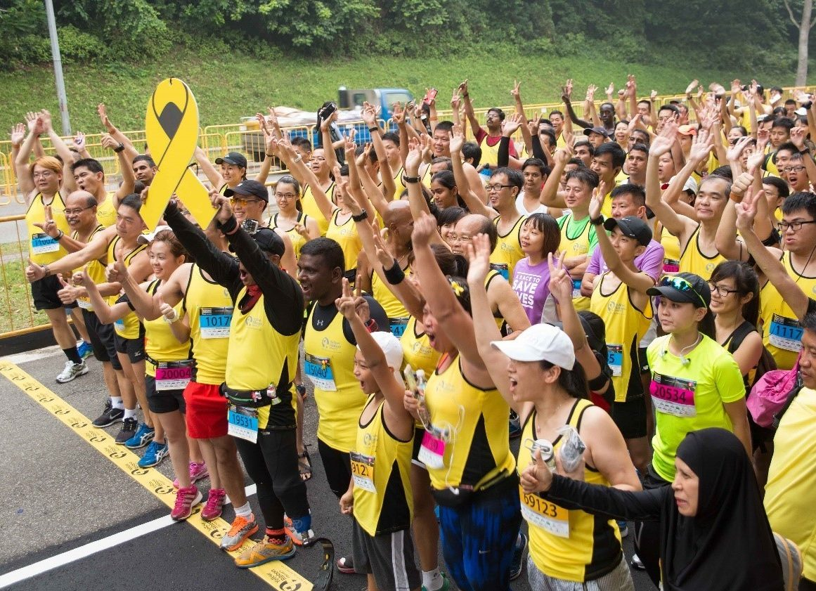 Run Inspiration with Yellow Ribbon