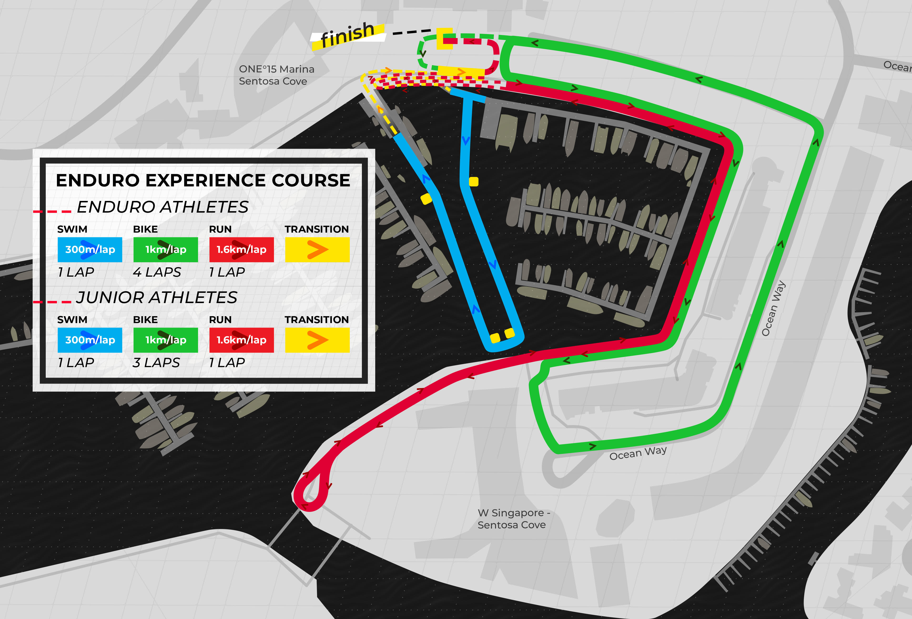 SLT Singapore Team Enduro Course Map